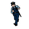 銀行で警察に捕まりました